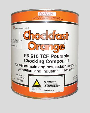 Chockfast® Orange – Pourable chocking compound / grout for use in marine & industrial applications
