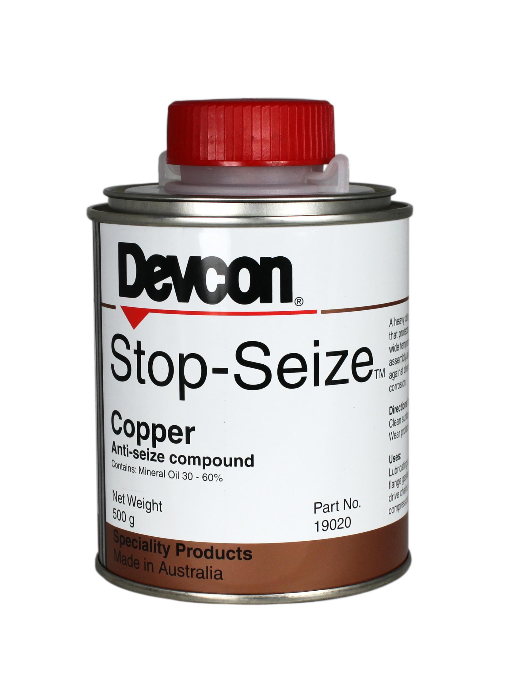Devcon Stop Seize Copper – Heavy duty, high temperature anti-seize compound