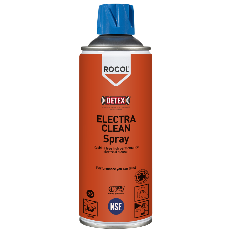 Electra Clean Spray – Ultra fast drying, residue free, high performance cleaner for use on electronic equipment and components